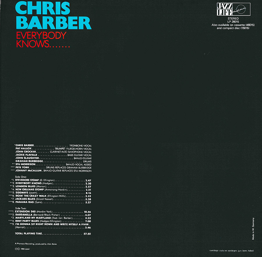 The Chris Barber Jazz And Blues Band The Chris Barber Jazz And Blues Band